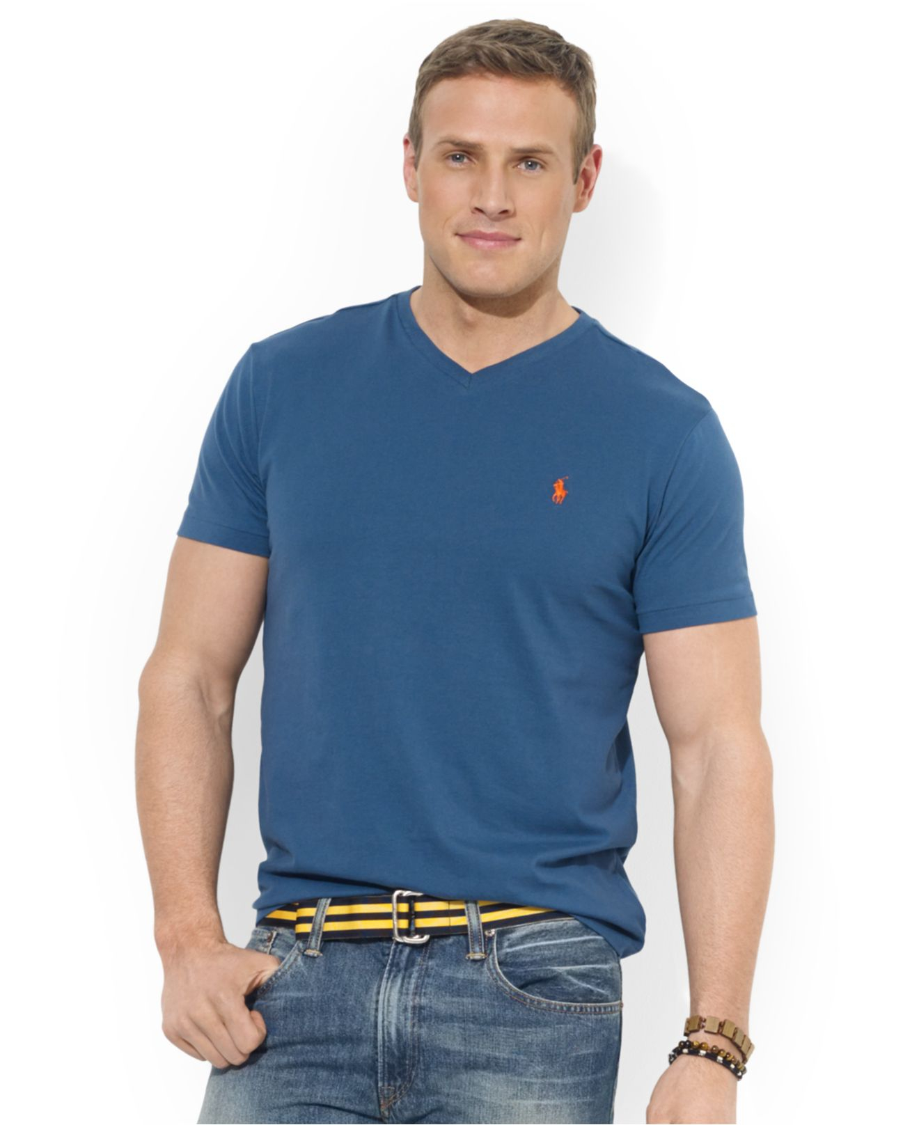 23abf834fbaa Lyst - Polo Ralph Lauren Big And Tall Classic-fit V-neck Short ...