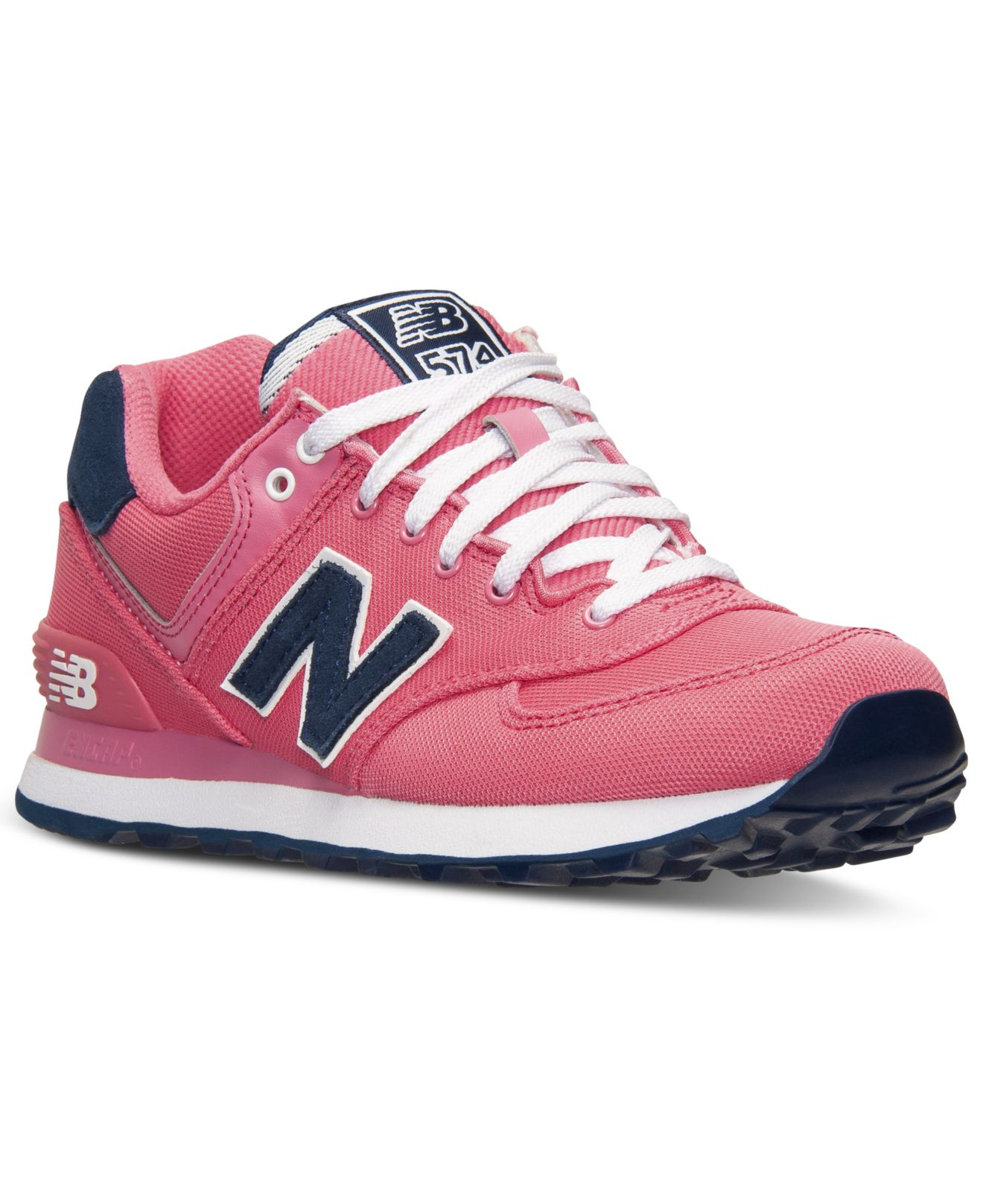 new style ef2e7 e6984 New Balance Pink Women's 574 Casual Sneakers From Finish Line