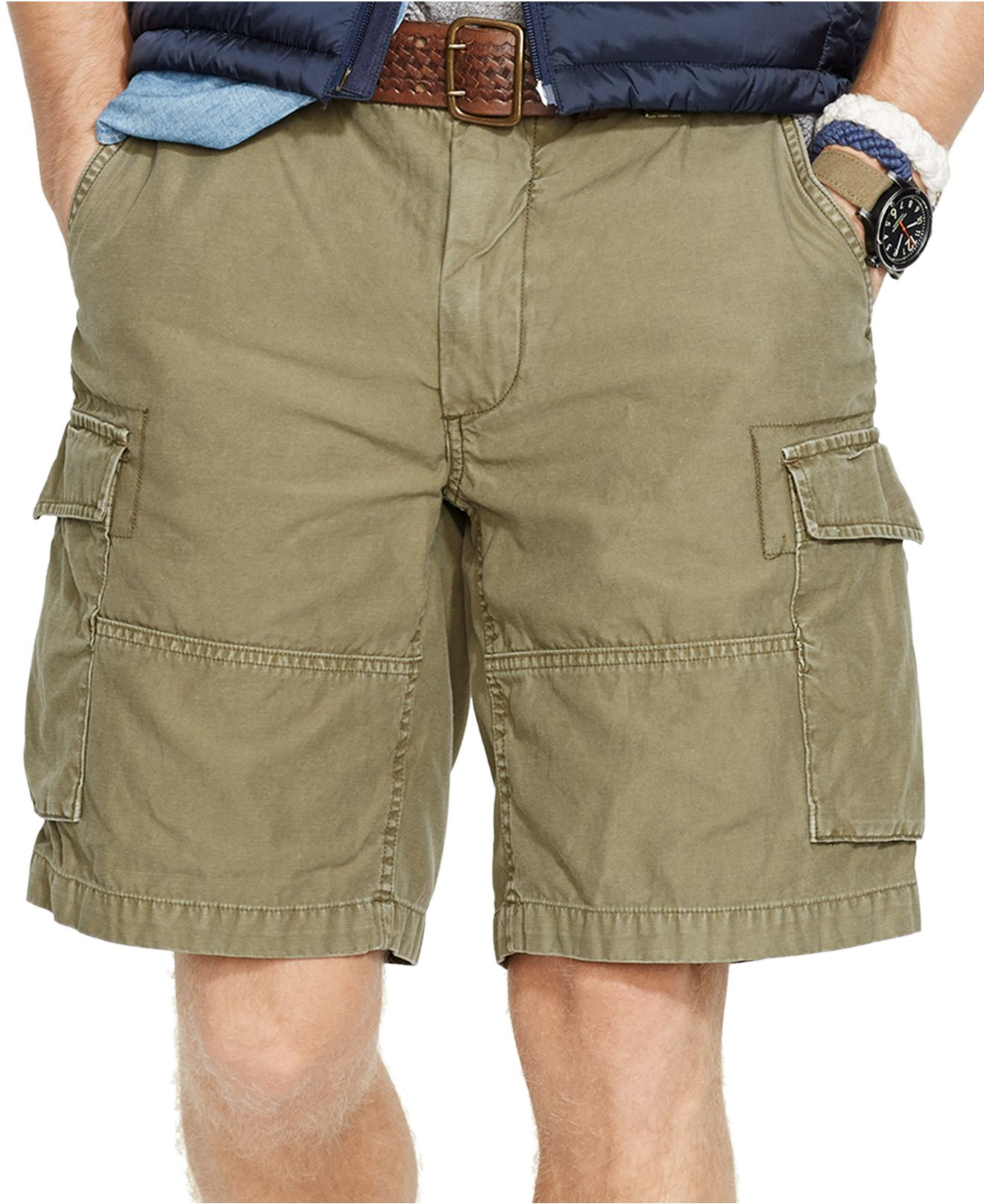 56cbc5fec11e Lyst - Polo Ralph Lauren Classic-Fit Commander Cargo Shorts in Green ...