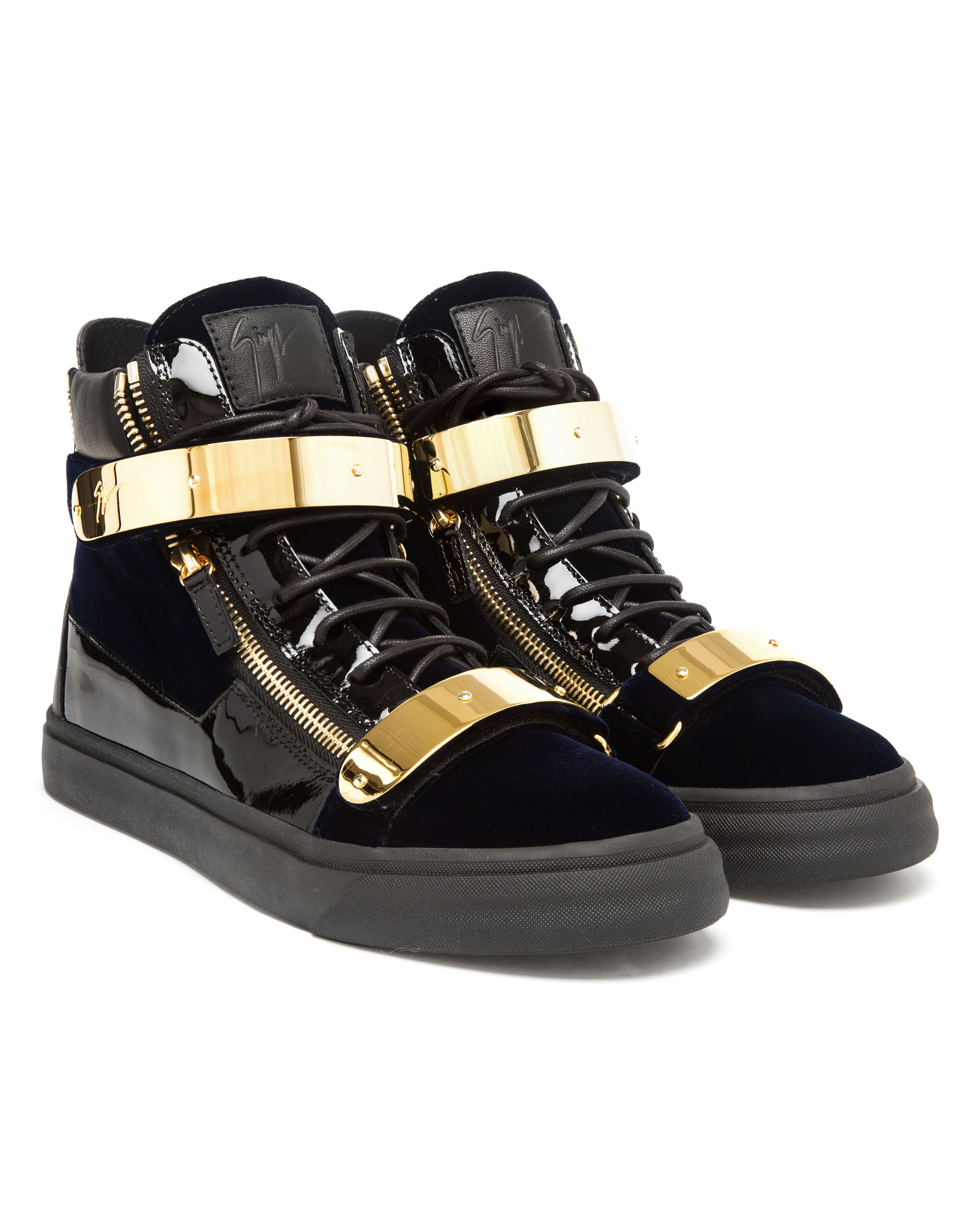 Giuseppe zanotti London Croc-embossed High-top Sneakers in ...