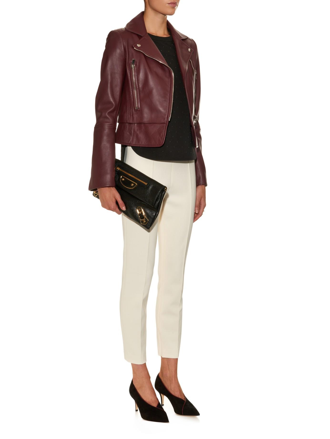 f7895cf4c9 Balenciaga Classic Metallic-edge Leather Envelope Clutch in Black - Lyst