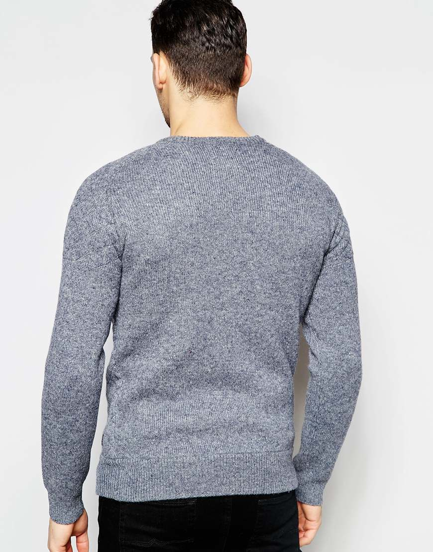 scotch soda cotch soda knitted crewneck pull with. Black Bedroom Furniture Sets. Home Design Ideas