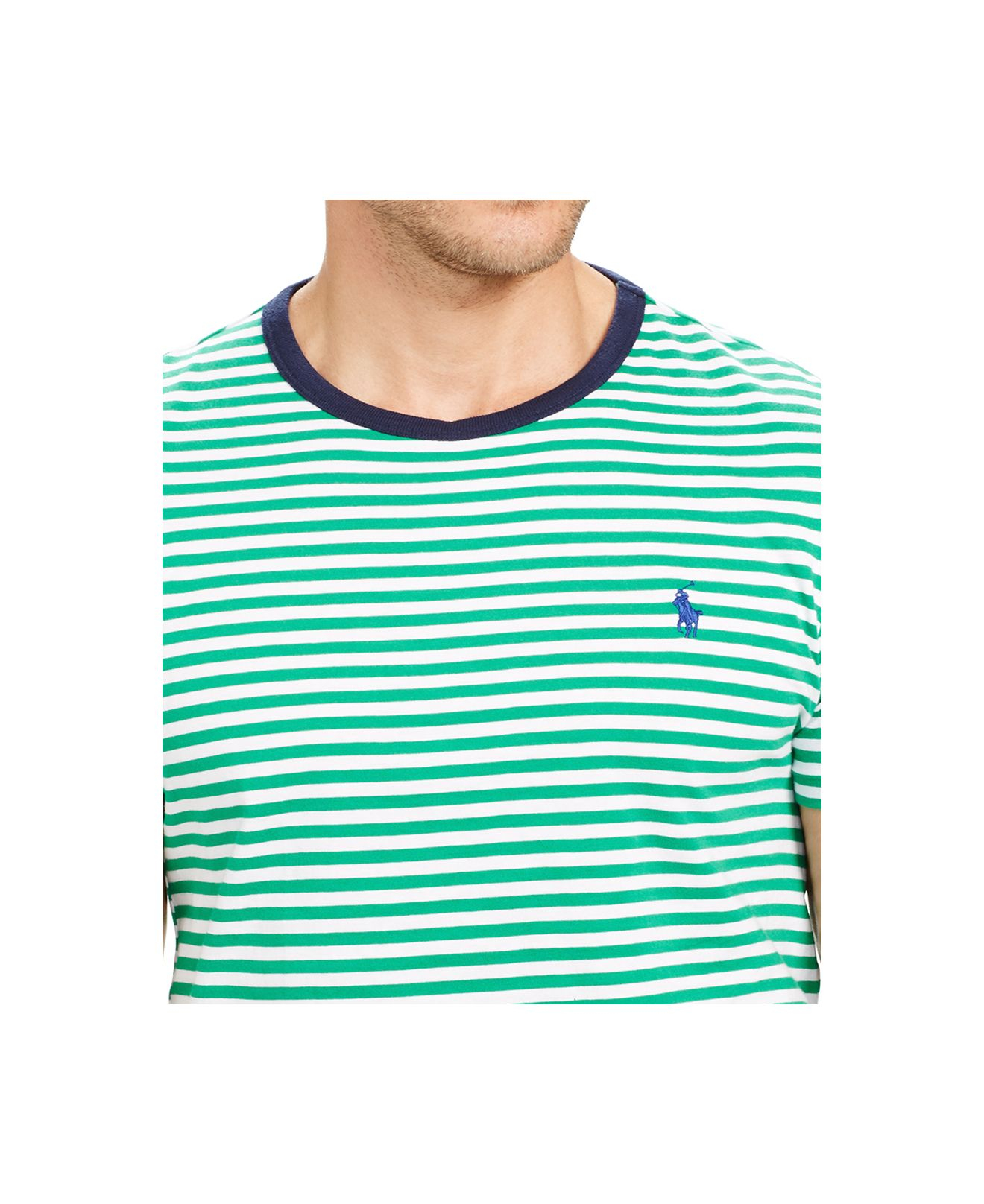 Striped For Men Crew Polo T Shirt Lauren Green Ralph Neck SzVpMU