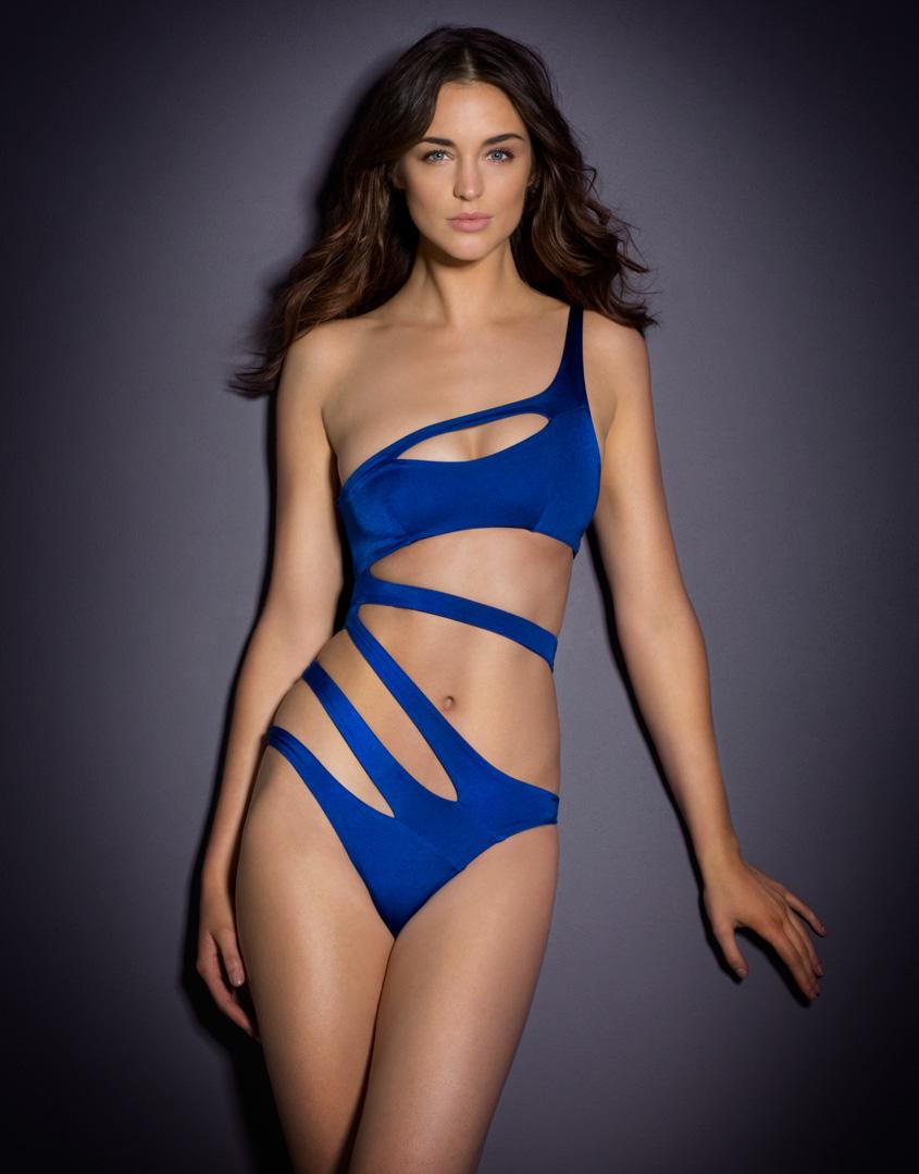 Lyst - Agent Provocateur Lexxi Swimsuit Blue in Blue ed9b4e4f3