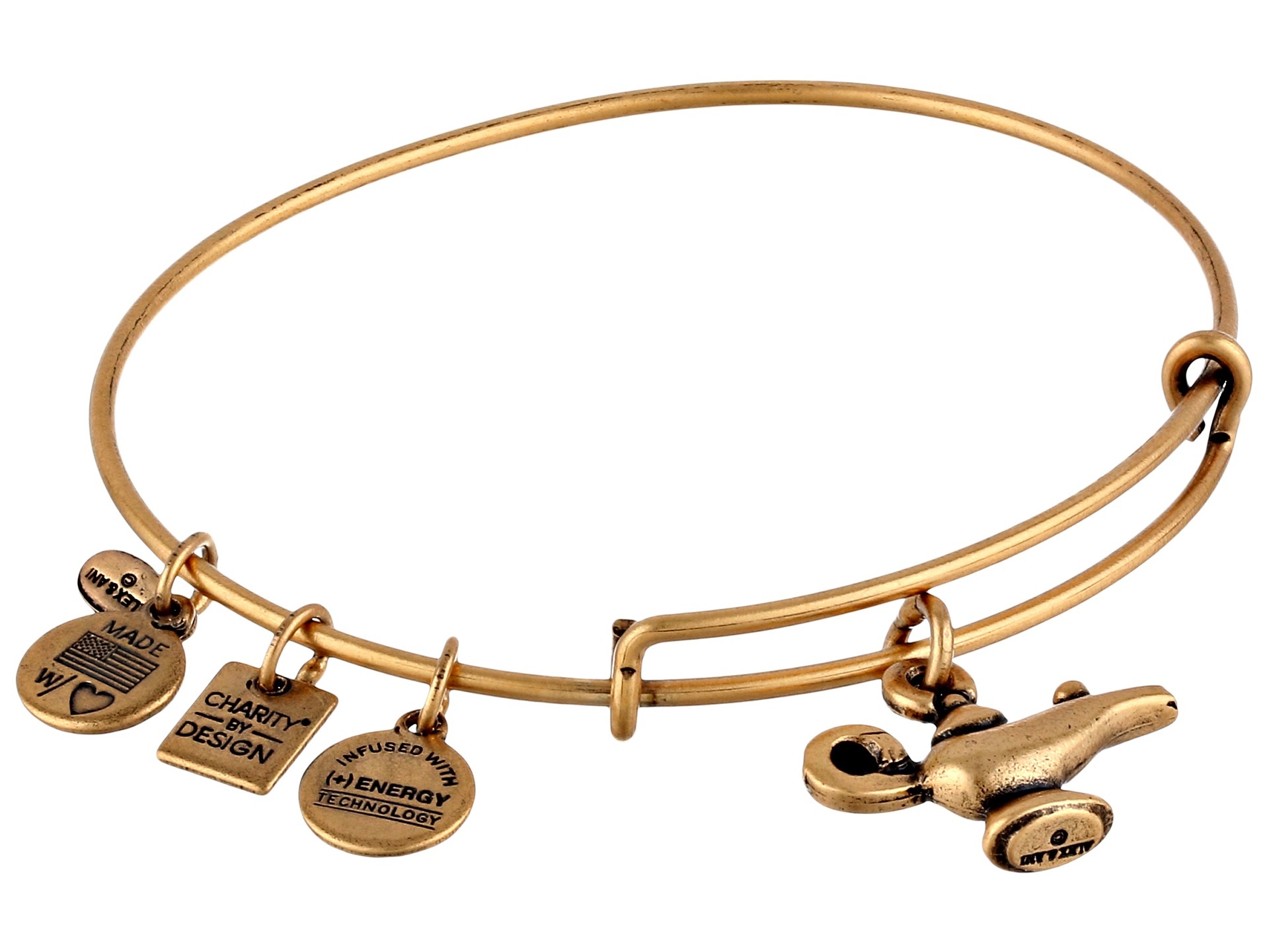 alex and ani lamp of light charm bangle in metallic lyst With lamp of light alex and ani