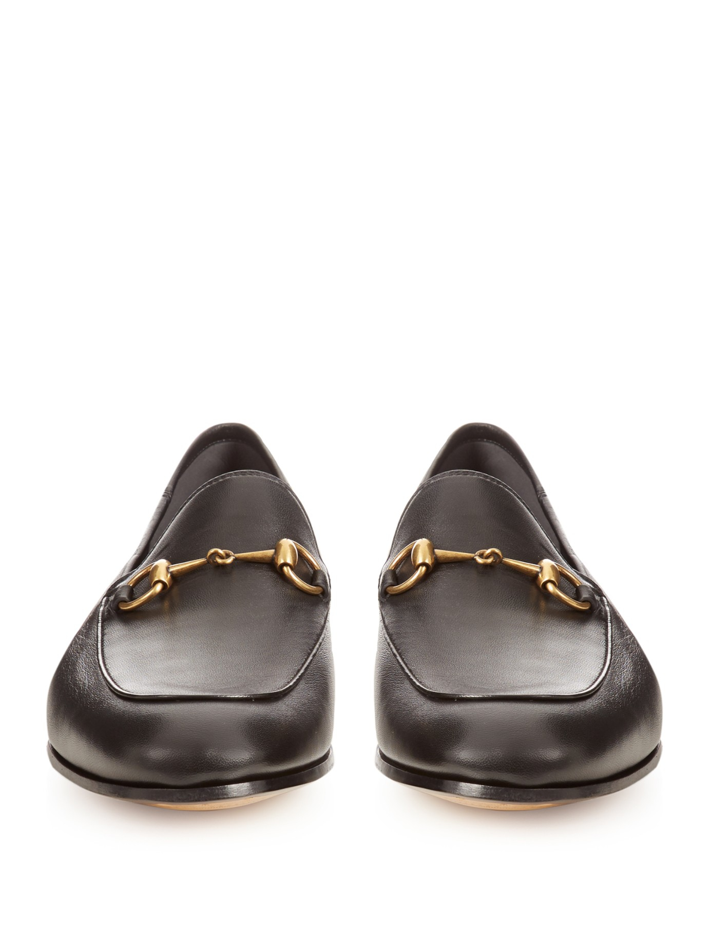 cbd889f9432 Gucci Brixton Leather Loafers in Black for Men - Lyst