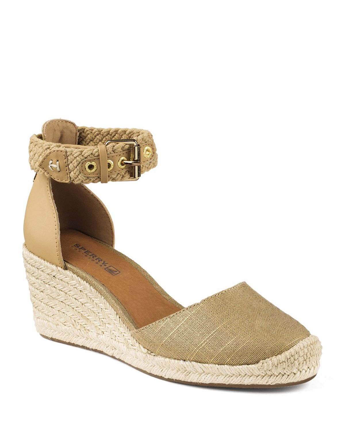 2486192d74c Lyst - Sperry Top-Sider Espadrille Wedge Sandals - Valencia Closed ...