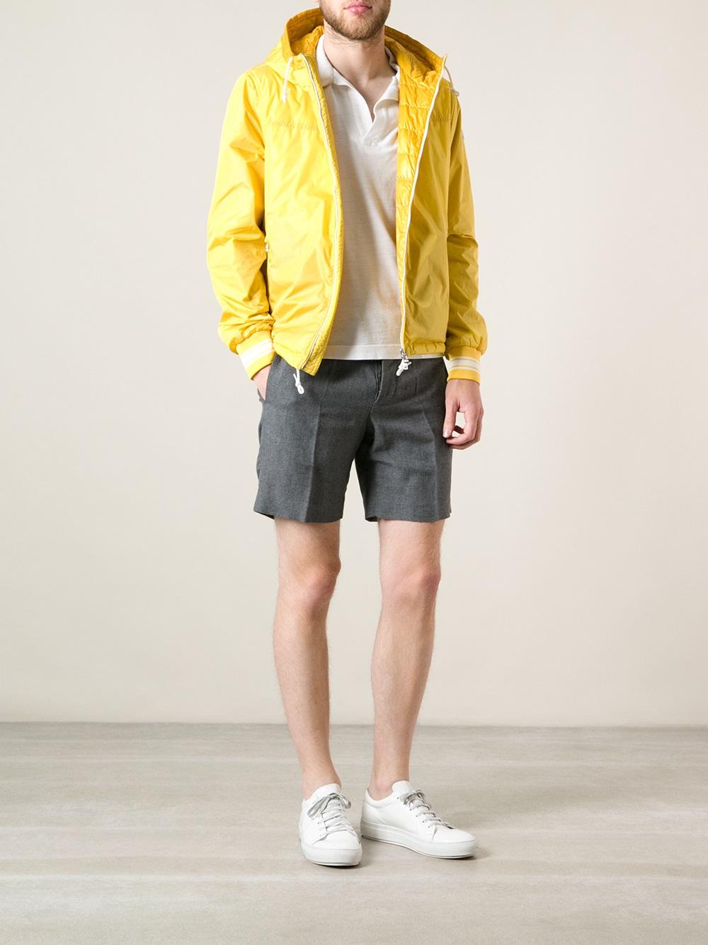 Moncler Leandre Jacket in Yellow & Orange (Orange) for Men
