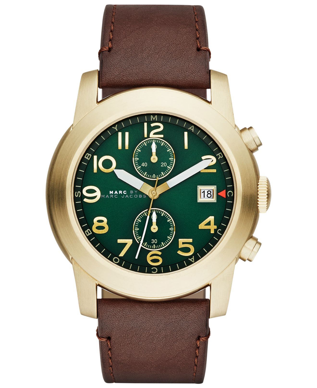 Marc by marc jacobs Men'S Chronograph Larry Tan Leather ...