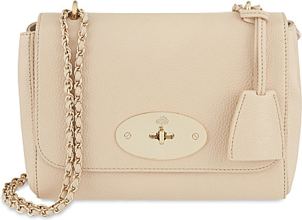 883e766a56 Mulberry Lily Small Textured-leather Shoulder Bag in Natural - Lyst