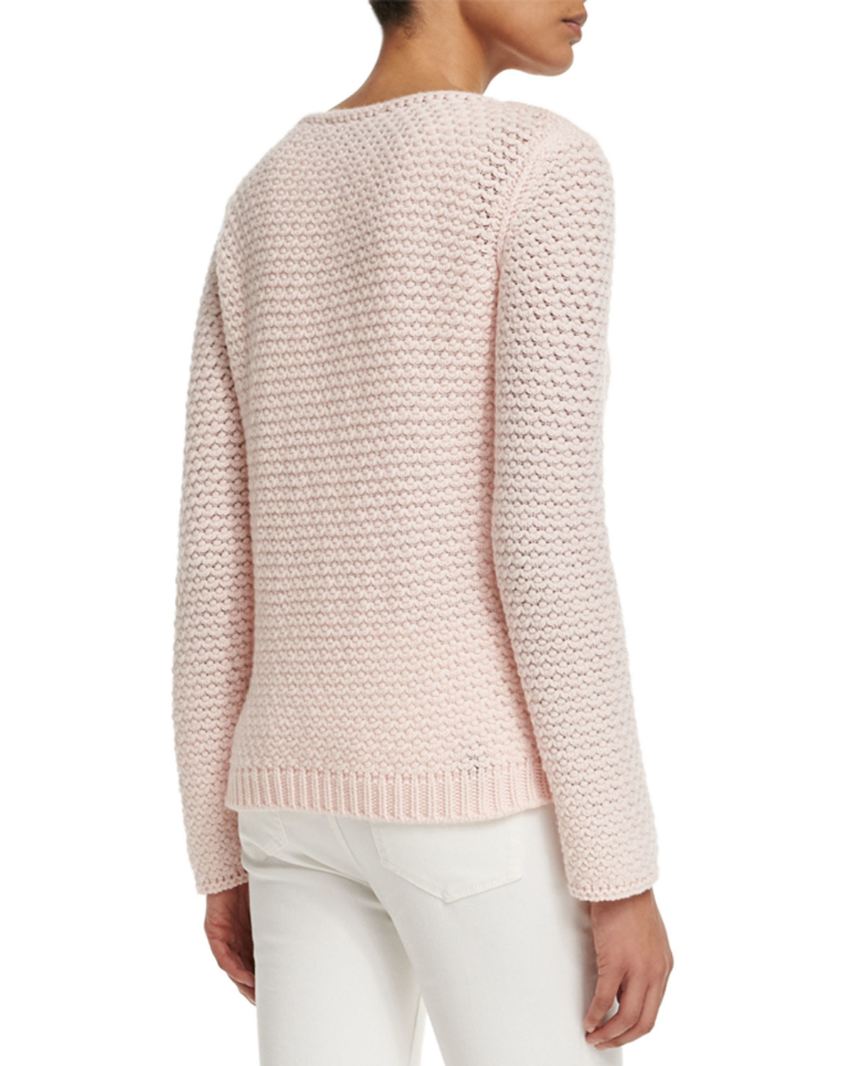 Loro piana Long-sleeve Cashmere Sweater in Pink | Lyst