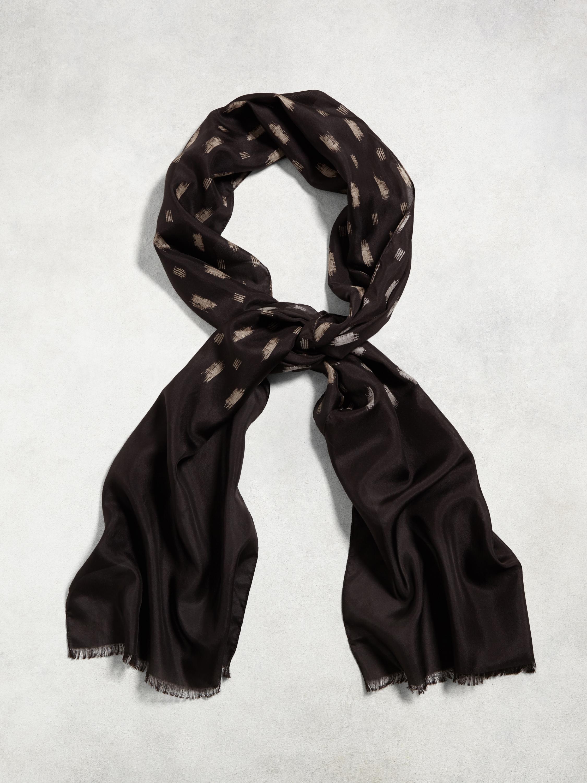 varvatos vintage silk print scarf in black for lyst