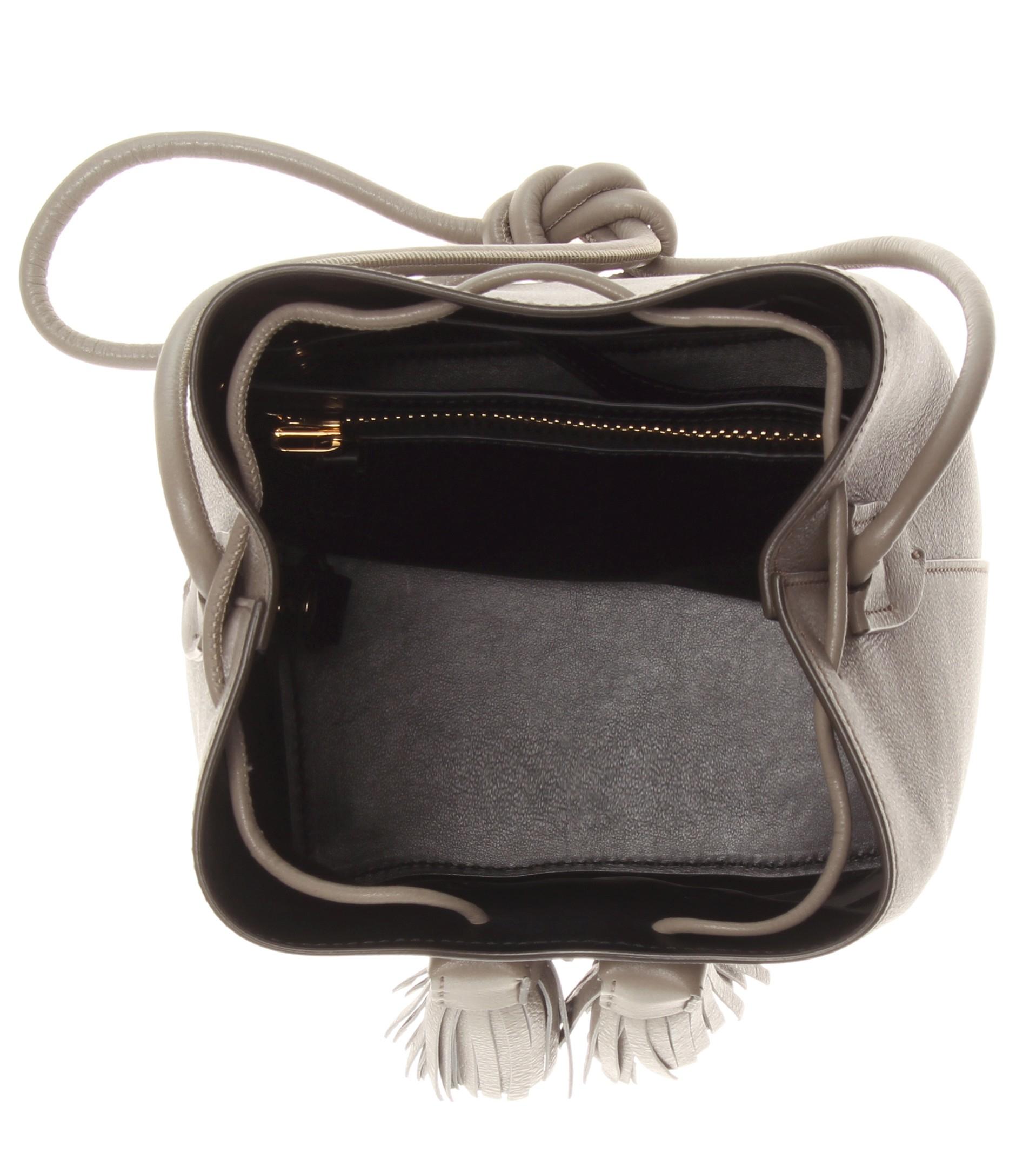 lyst tom ford leather bucket bag in natural. Black Bedroom Furniture Sets. Home Design Ideas