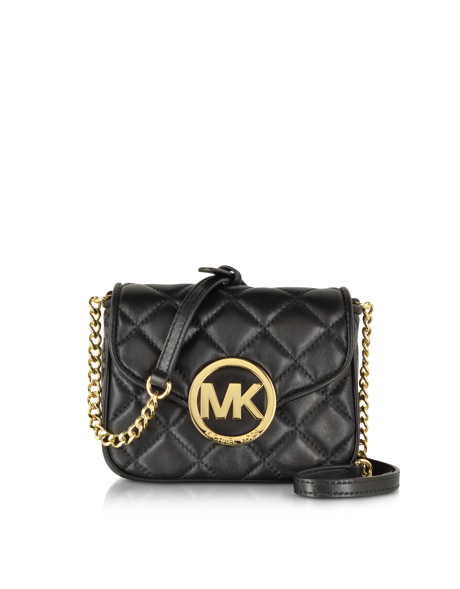 Michael kors Small Fulton Quilted Crossbody Bag in Black | Lyst : michael kors fulton quilted tote - Adamdwight.com