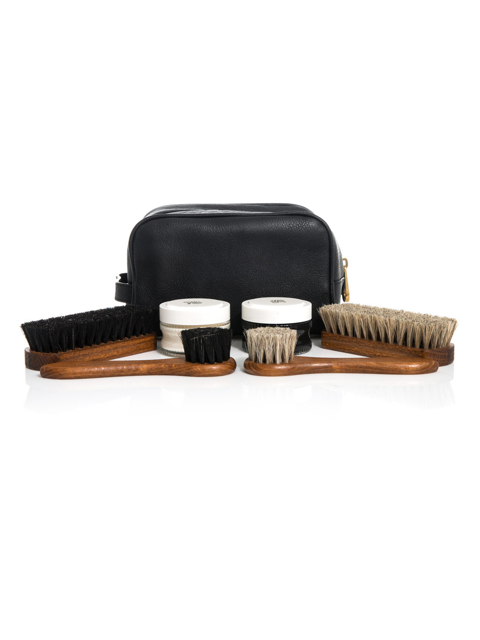 mulberry leather shoe care kit in black for lyst
