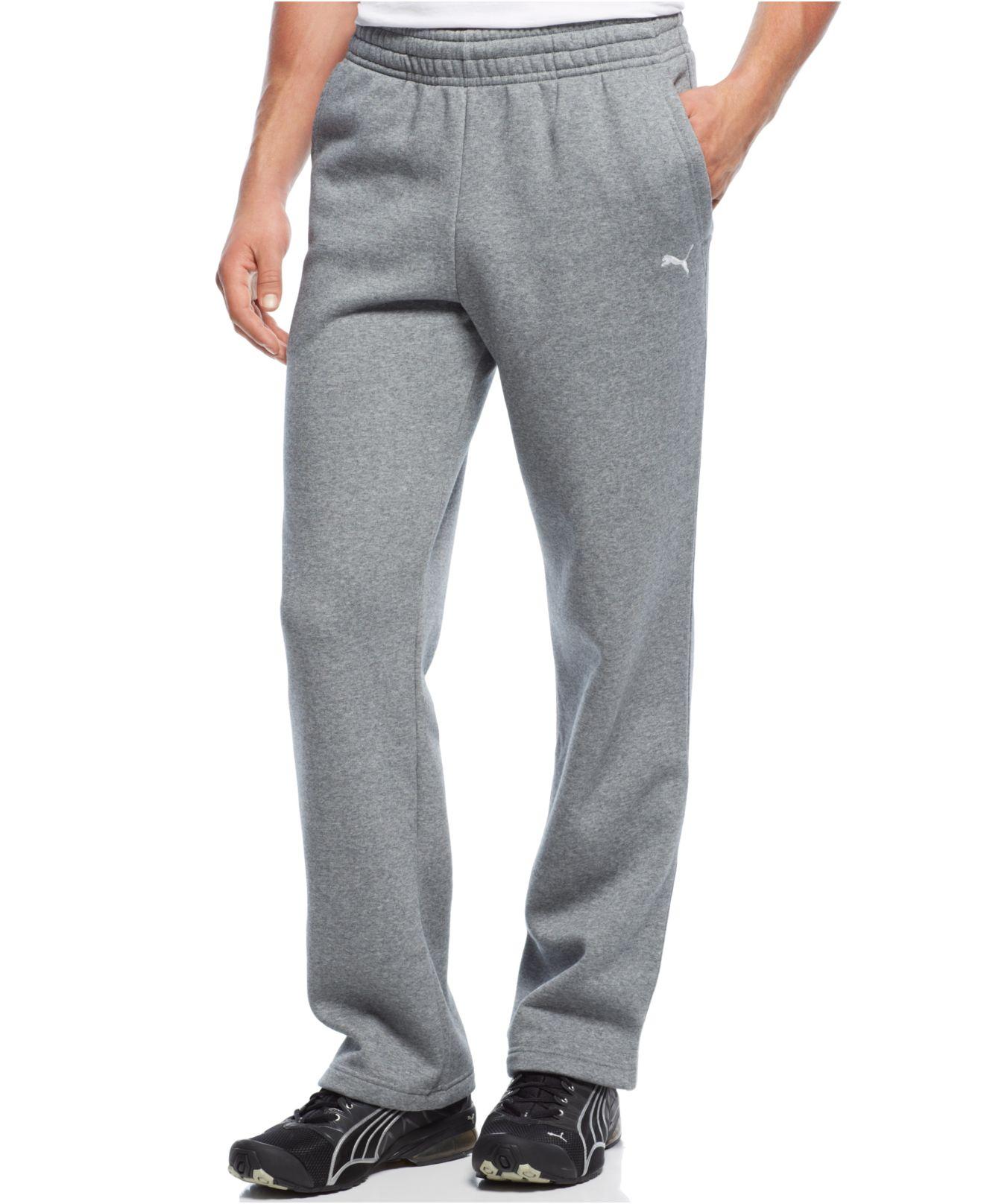 540eca673a76 Lyst puma men drawstring fleece sweatpants in gray for men jpg 1320x1616 Mens  pants puma open