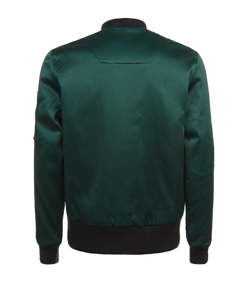 Adyn Satin Bomber Jacket In Green For Men Lyst