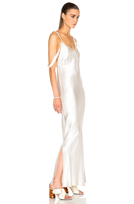 Calvin klein Gelder Evening Dress in White | Lyst
