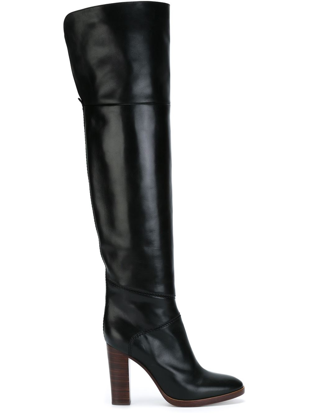 chlo 233 naim thigh high boots in black lyst