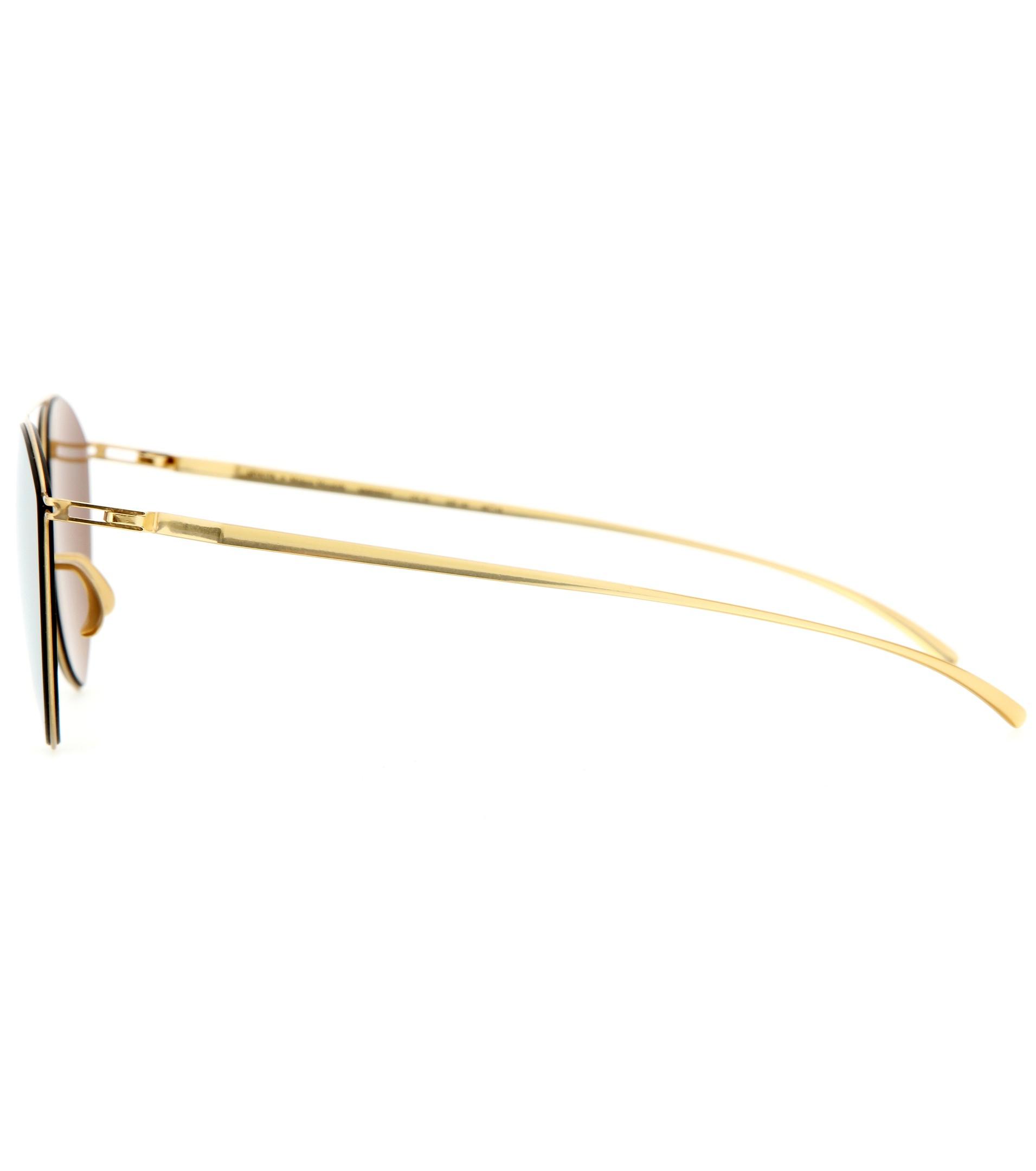 Mykita Mmesse010 Essential Mirrored Sunglasses in Yellow
