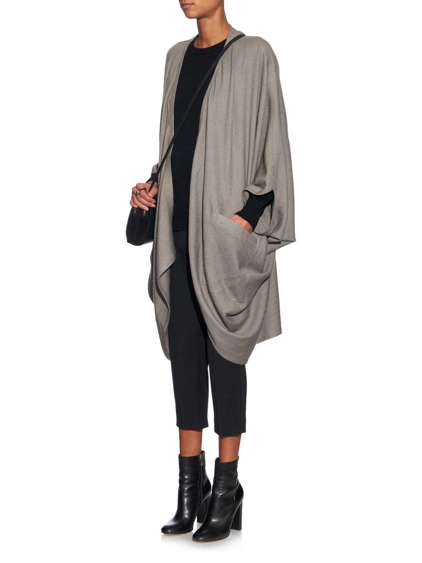 Denis colomb Hand-woven Cashmere Kimono Cardigan in Gray | Lyst