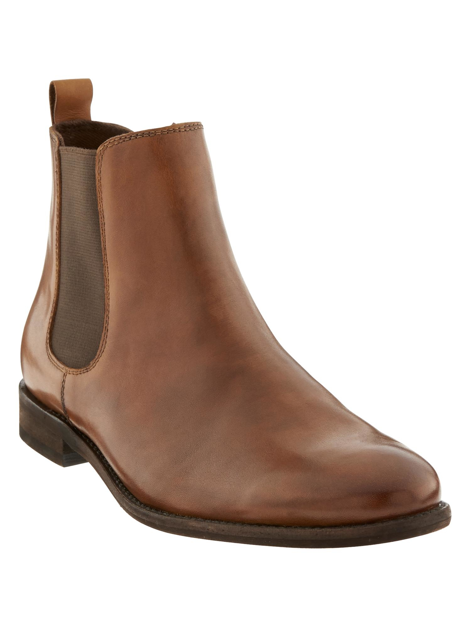 banana republic brown ty chelsea boot for lyst