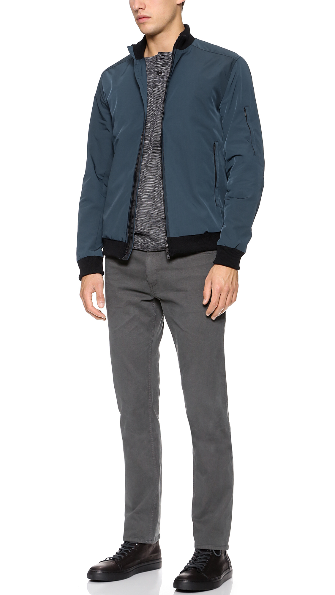 Theory Rifle Jacket in Blue for Men