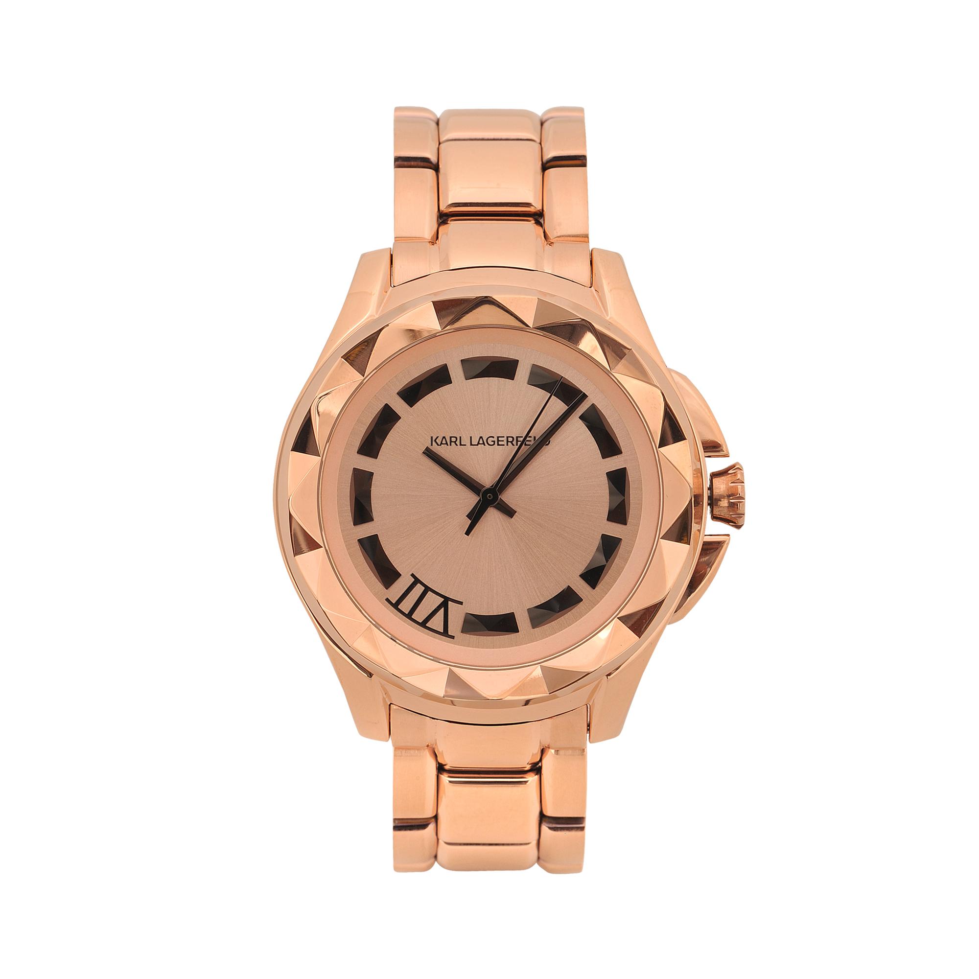 karl lagerfeld kl1032 karl 7 watch in gold lyst. Black Bedroom Furniture Sets. Home Design Ideas