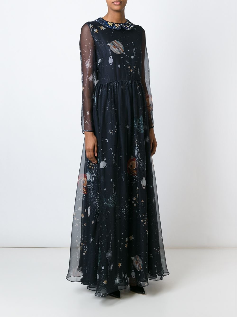 Lyst Valentino Cosmo Evening Dress In Blue