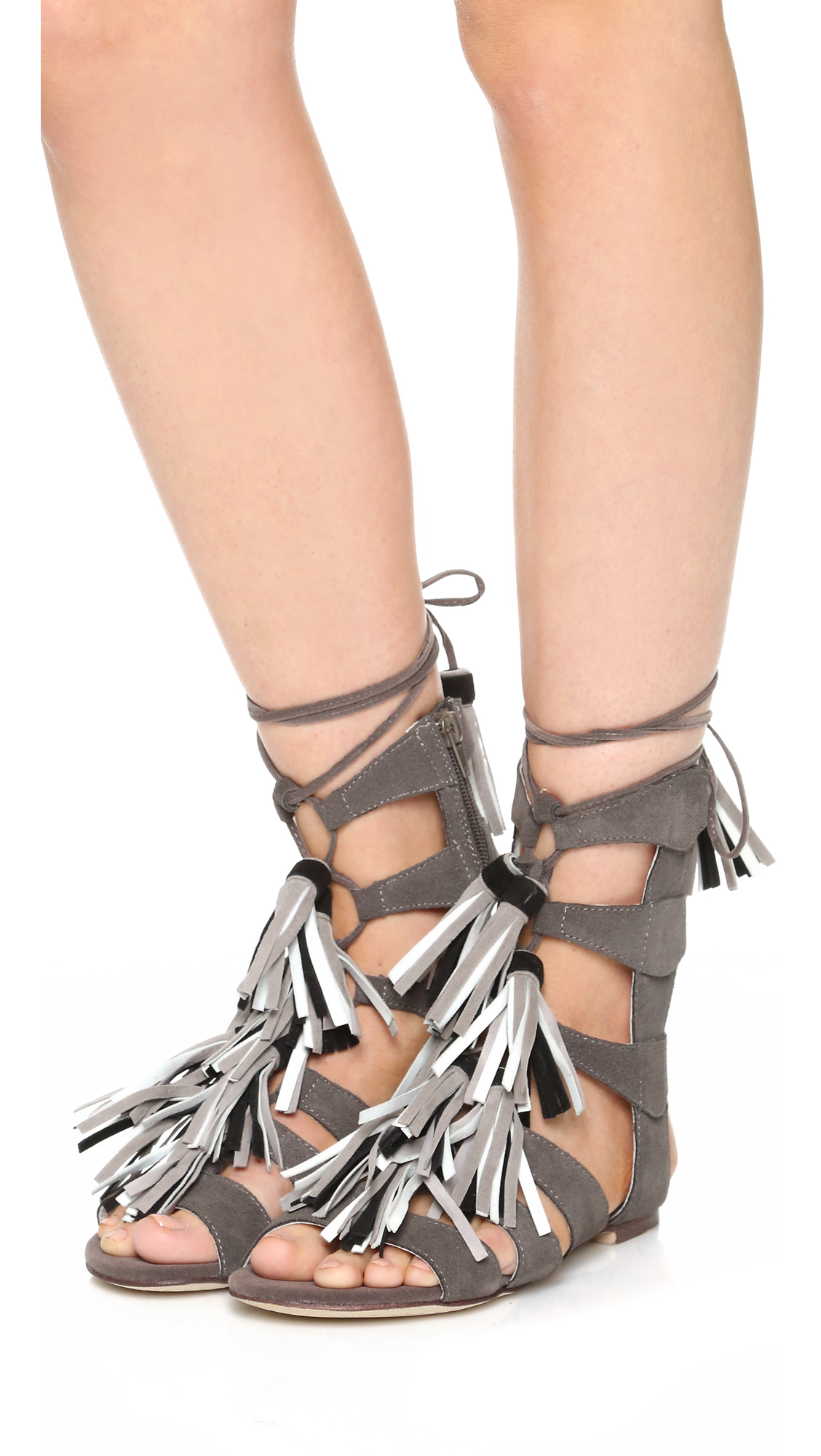 Lyst Jeffrey Campbell Redondo Sandals In Gray