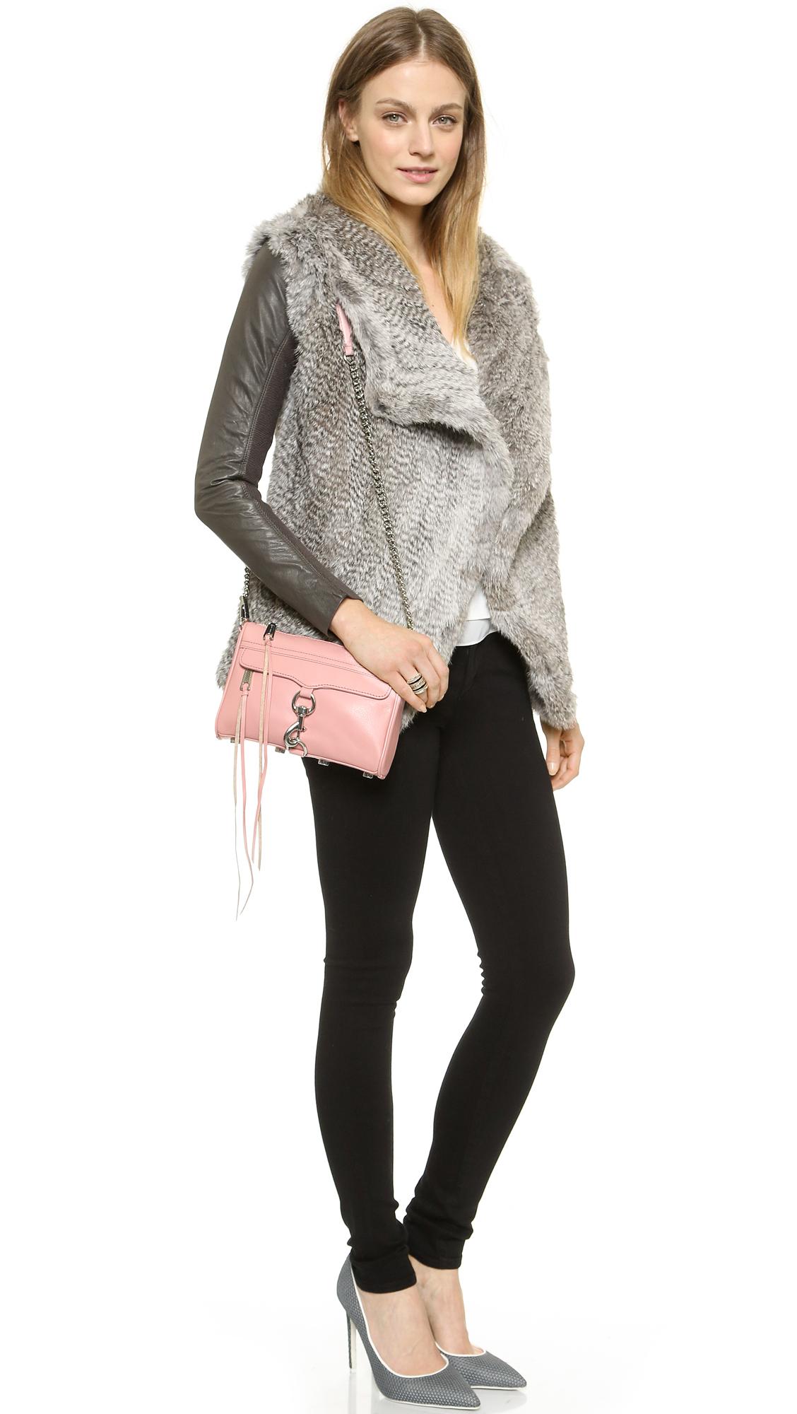 Lyst - Rebecca minkoff Love Cross Body Bag in Pink
