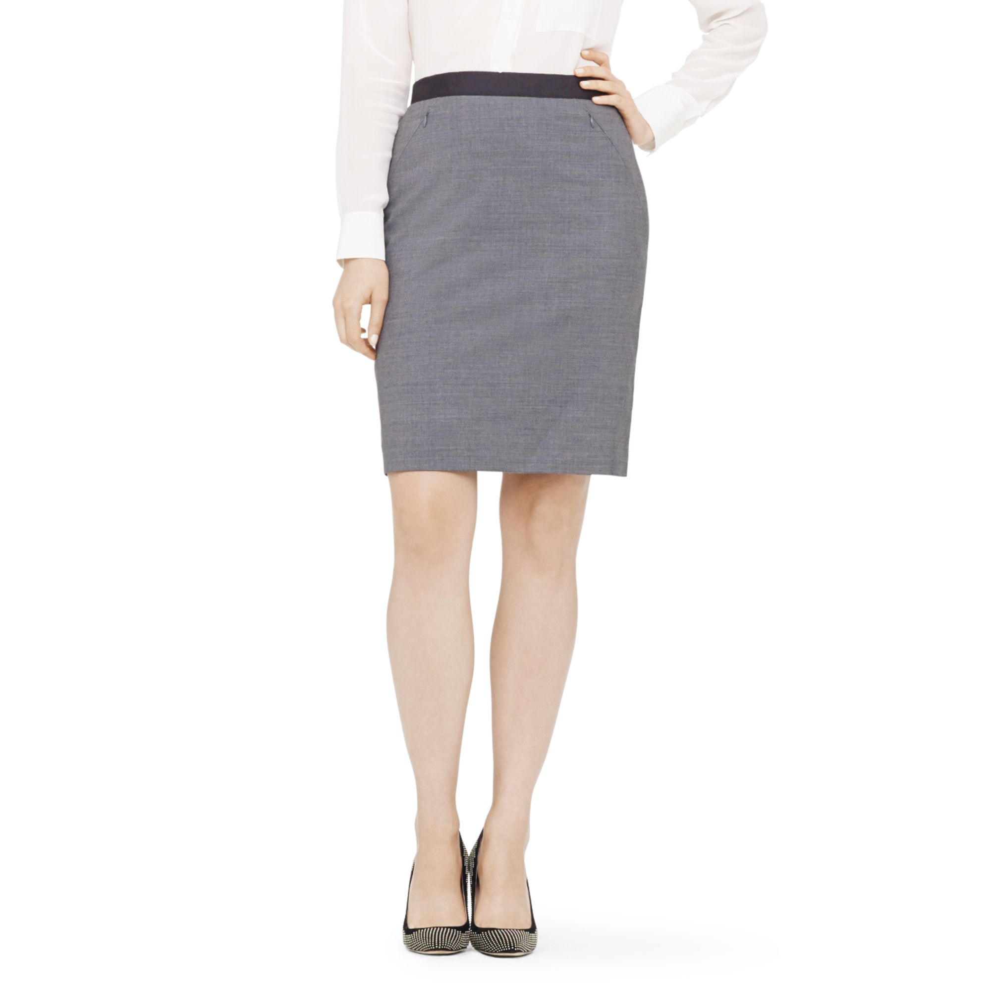 club monaco skirt in gray lyst