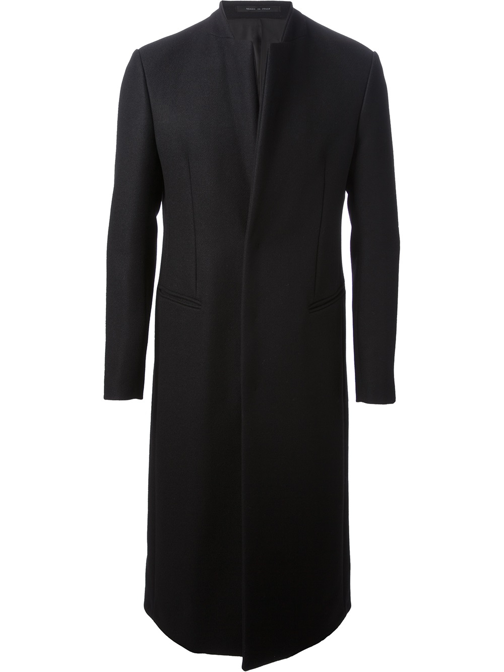 Emporio armani Formal Long Coat in Black for Men | Lyst