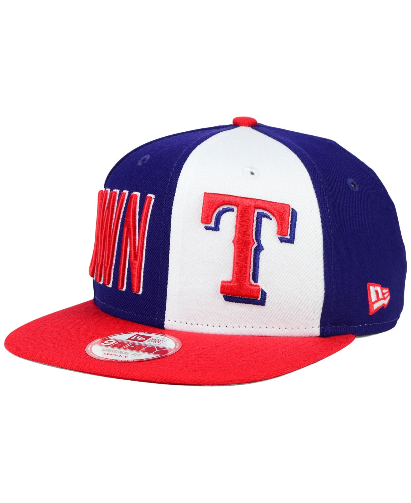 new style 9c0a7 37977 italy lyst ktz texas rangers my block 9fifty snapback cap in blue for men  6650e fb15f