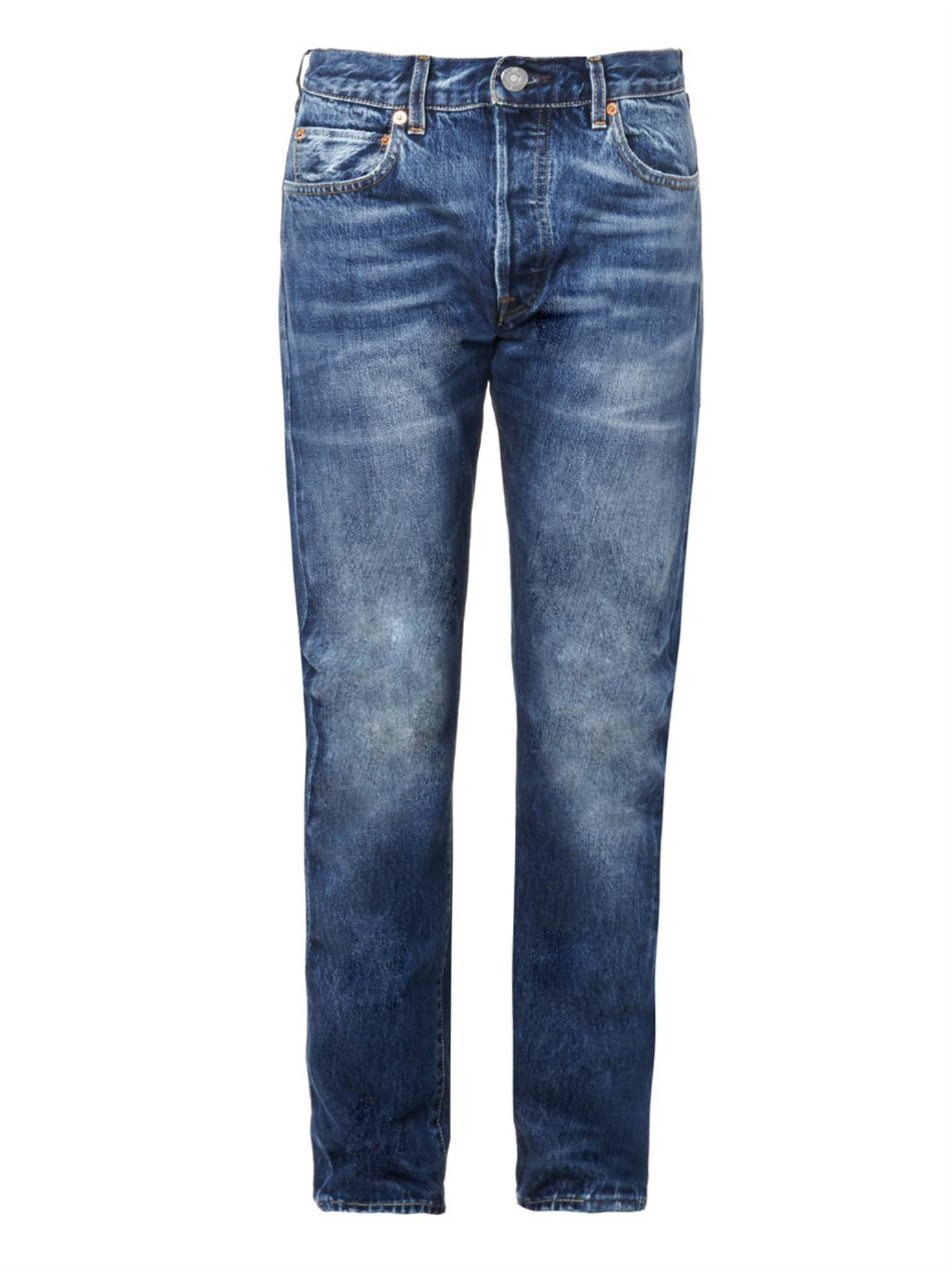levi 39 s 1966 501 tapered leg jeans in blue for men red lyst. Black Bedroom Furniture Sets. Home Design Ideas