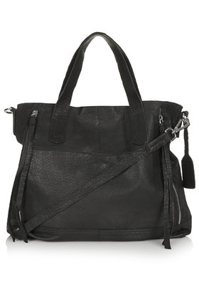 Topshop Slouchy Leather Shoulder Bag in Black | Lyst