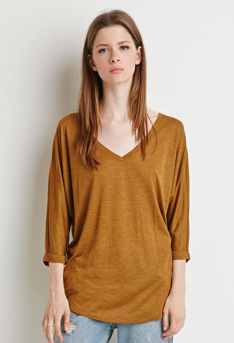 Горчичная блузка