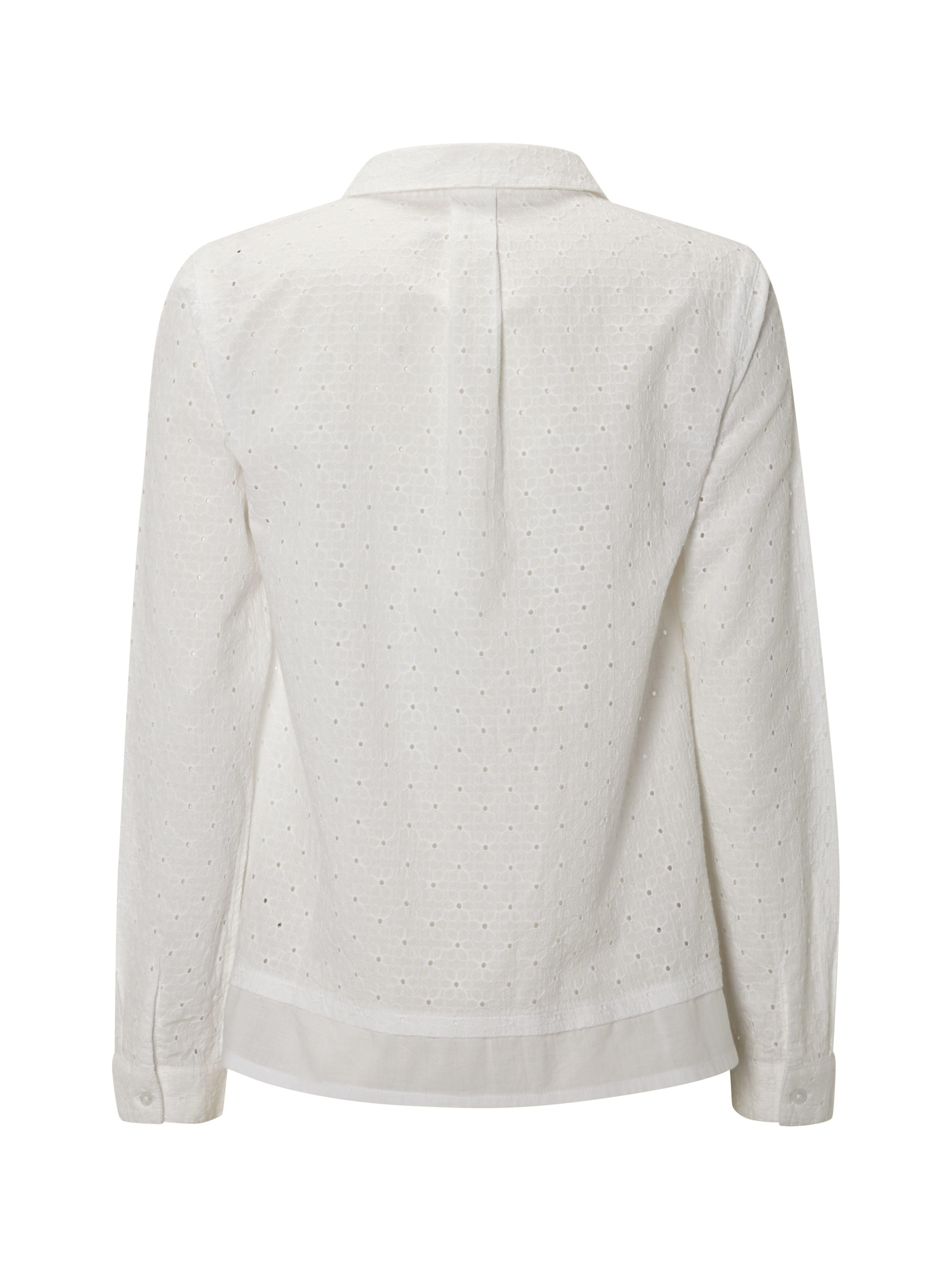 white stuff broderie shirt in white lyst