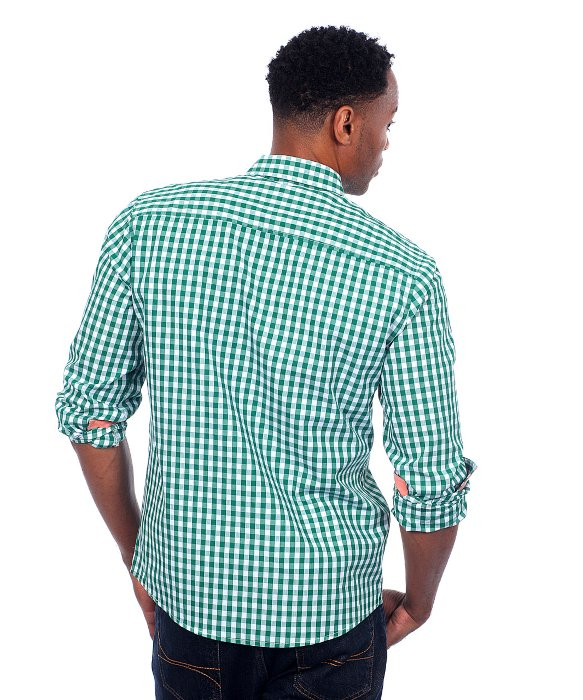 Lyst Filthy Etiquette Men 39 S Green Gingham Plaid Shirt In