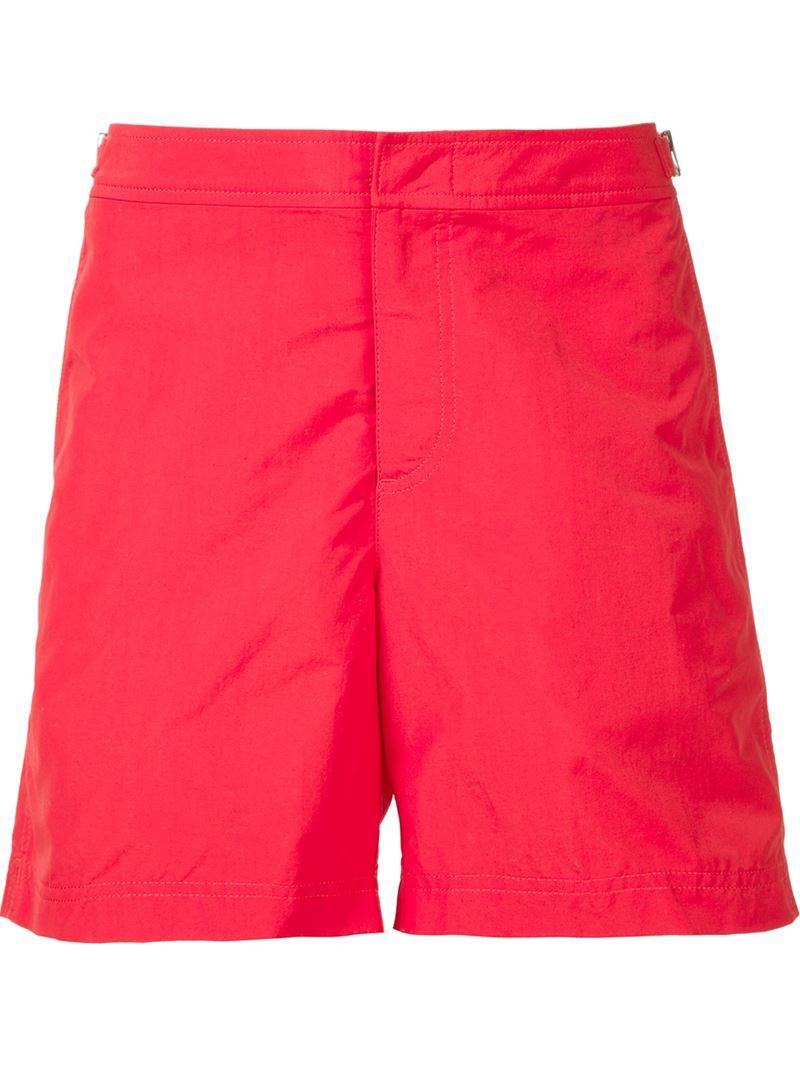 Orlebar brown Bulldog Swim Shorts in Red for Men | Lyst