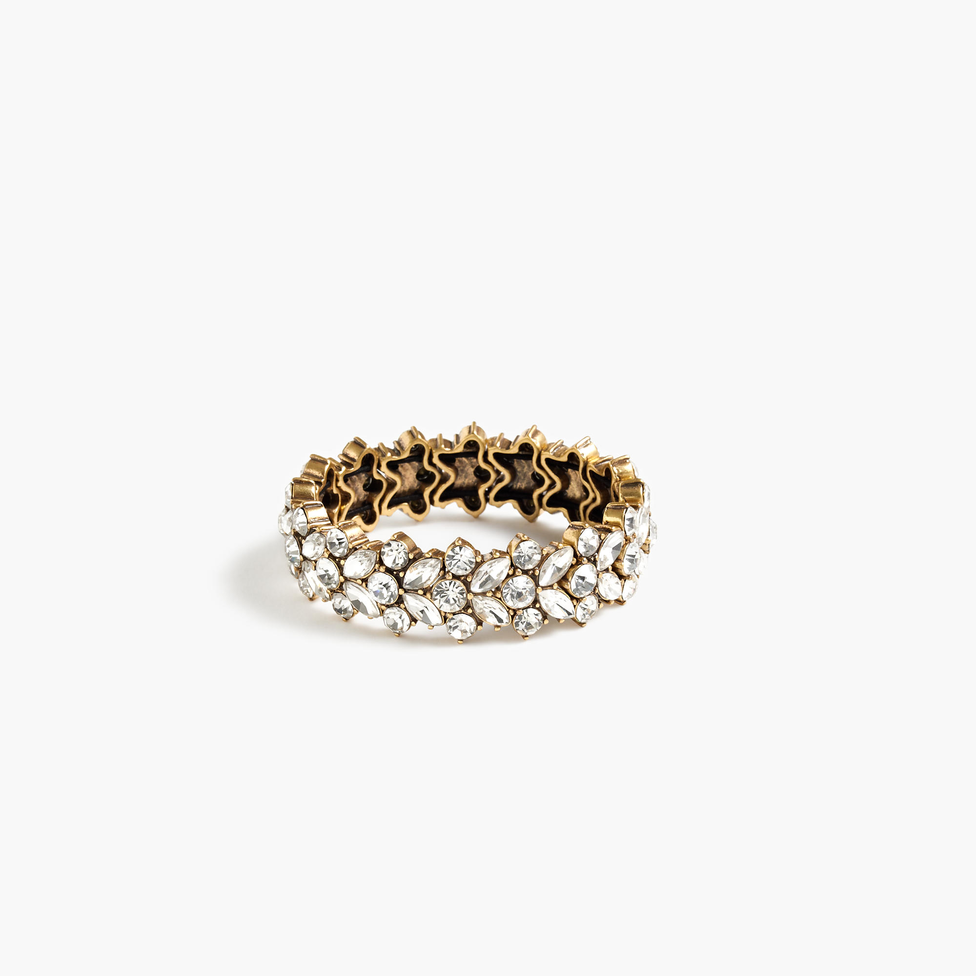 j crew clustered stretch bracelet in metallic lyst