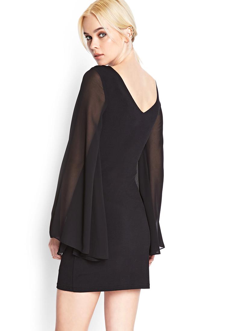 747f540c06 Black Beaded Chiffon Dress Forever 21 - Women s Dresses