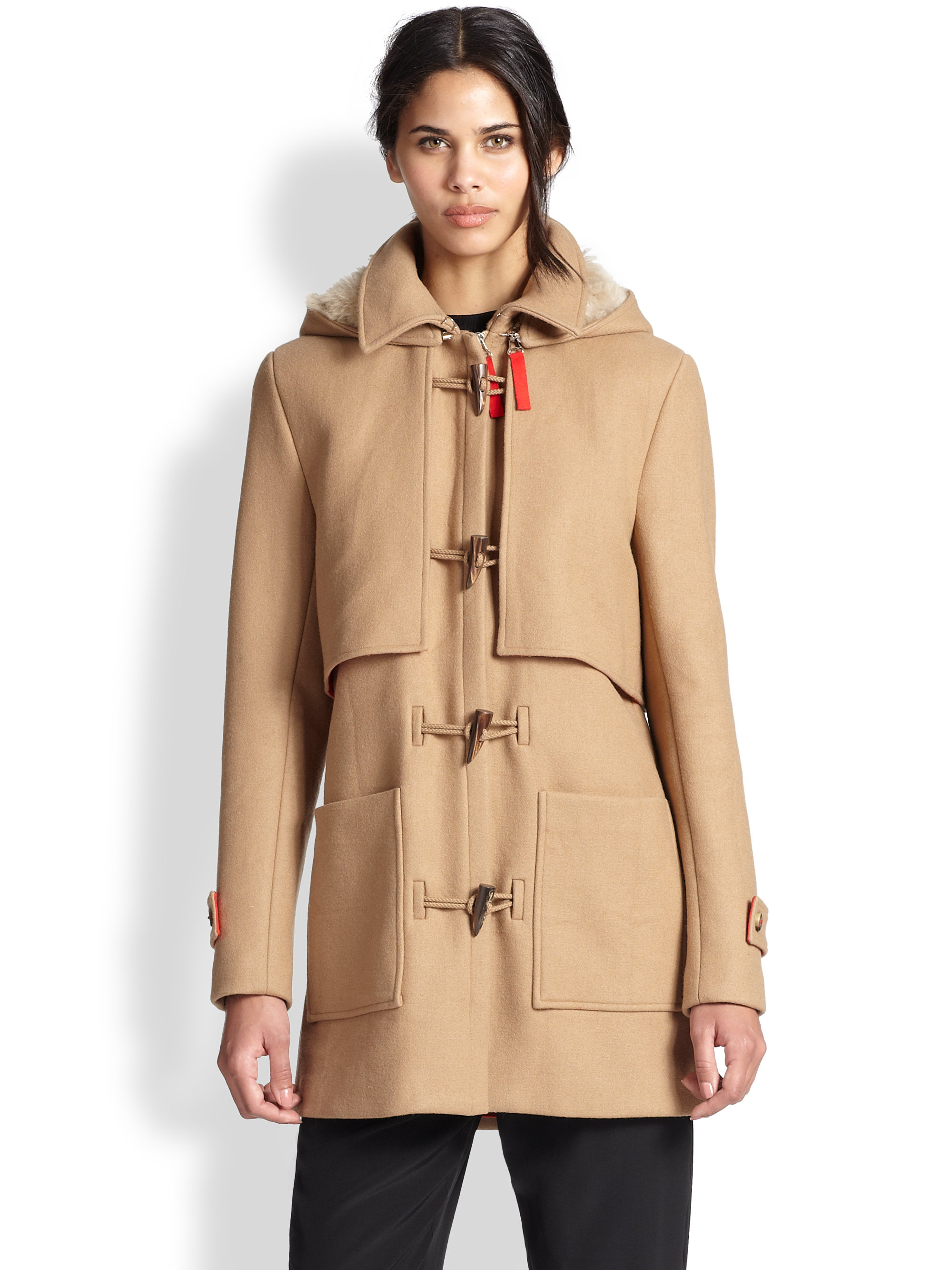 Thakoon addition shearling lined parka