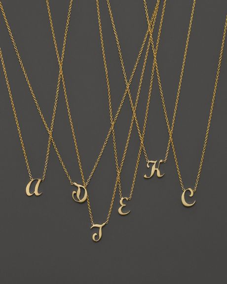 roberto coin 18k yellow gold letter initial pendant With roberto coin letter necklace