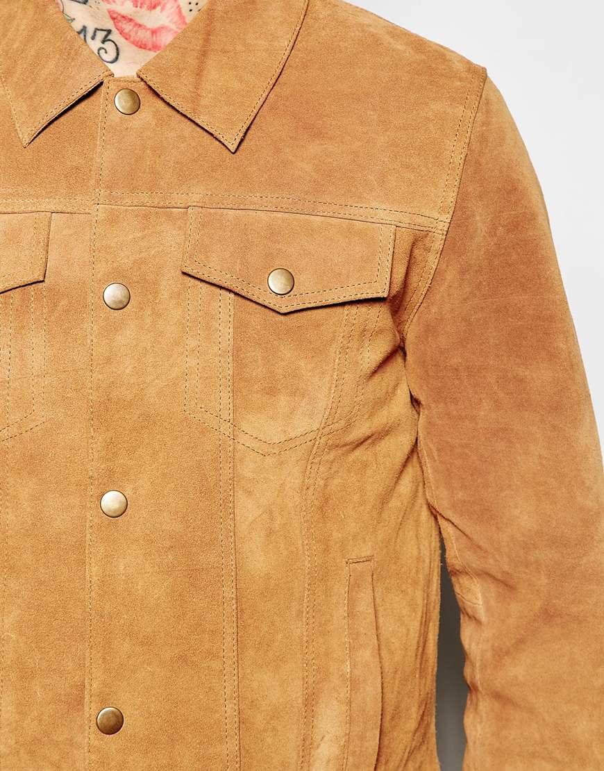 cd7ed4557 ASOS Natural Suede Western Jacket for men