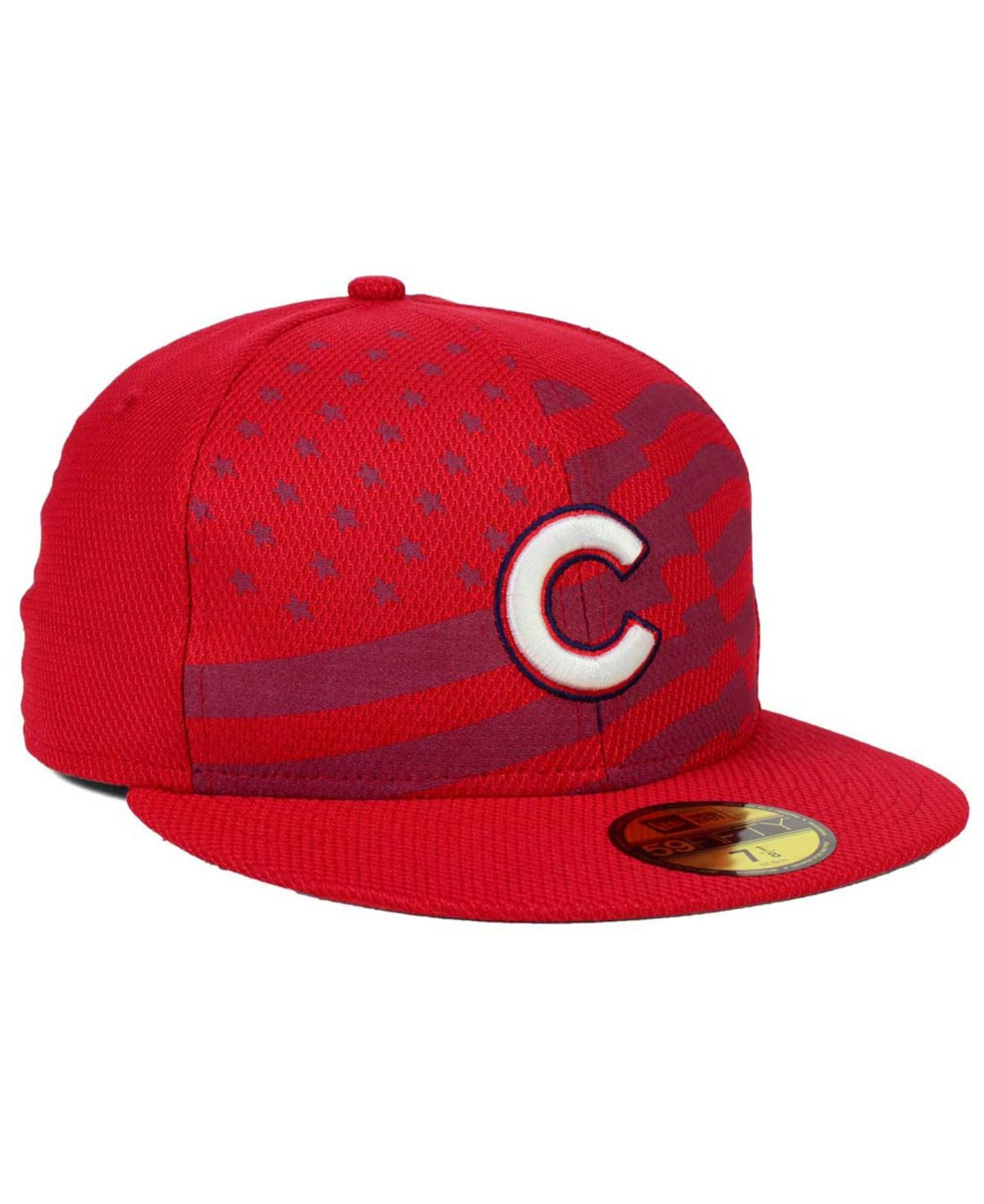 new lifestyle wholesale outlet KTZ Synthetic Chicago Cubs July 4th Stars & Stripes 59fifty Cap in ...