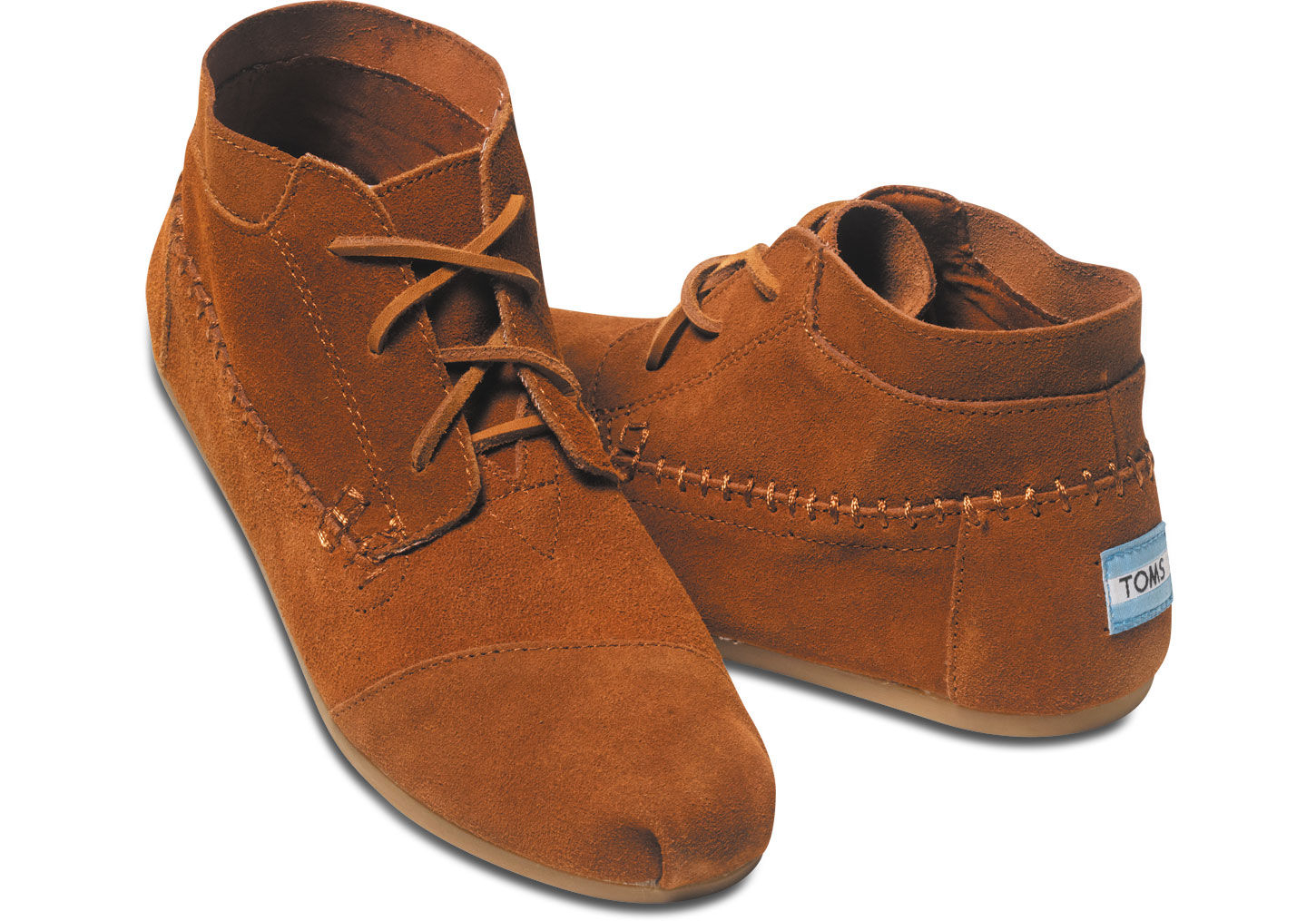 56dc2fb9068 TOMS Brown Chestnut Suede Women's Tribal Boots
