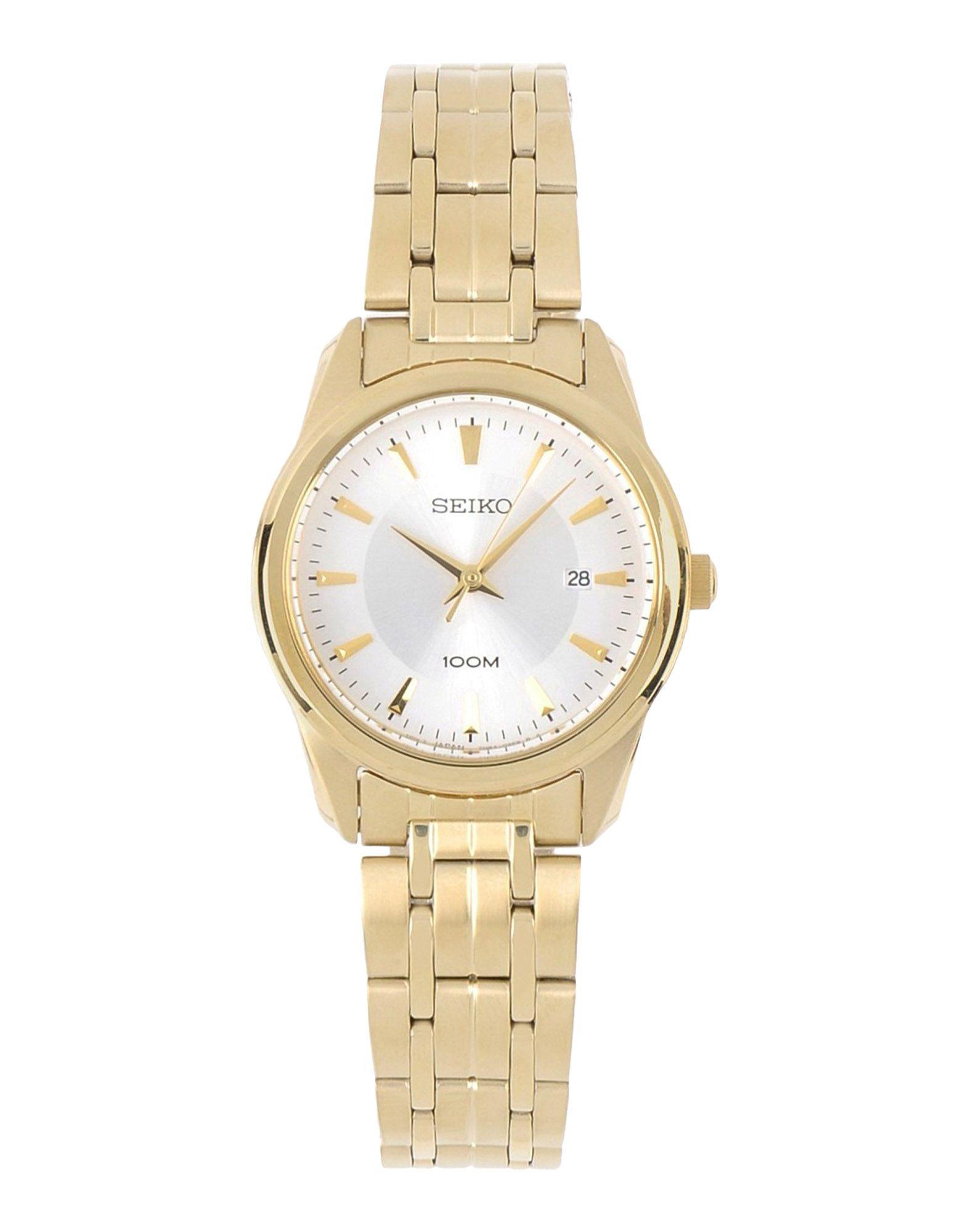 seiko wrist in gold lyst