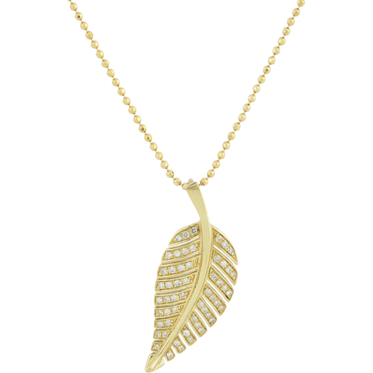 meyer leaf pendant necklace in metallic lyst