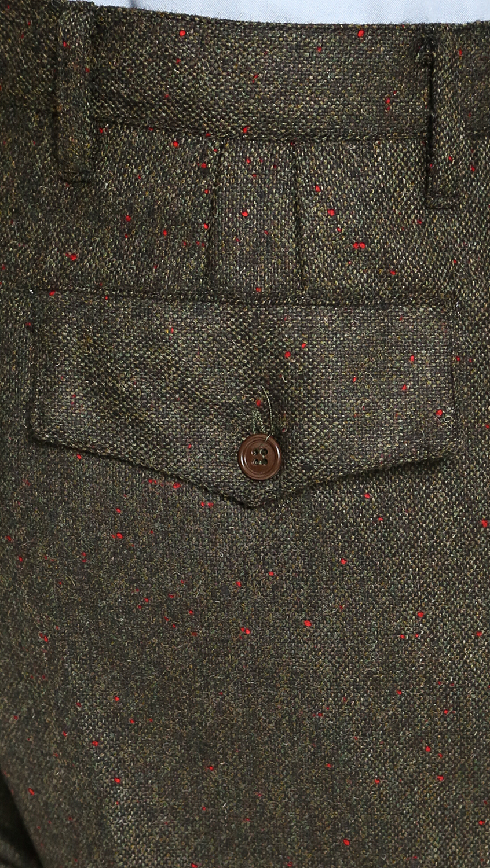 CAMO Biella Tweed Trousers in Olive Tweed (Green) for Men